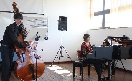 Concerto de contrabaixo e piano, com Daniel Figueiredo e Islei Correa, realizado no mês passado em mais uma edição do Ufop Convida