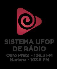Imagem com a logo da Rádio UFOP linkando para o site da rádio